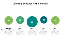 Learning Behavior Reinforcement Ppt PowerPoint Presentation Slides Portrait Cpb Pdf