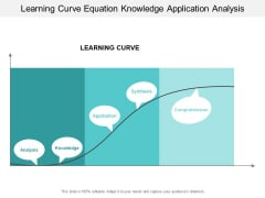 Learning Curve Equation Knowledge Application Analysis Ppt PowerPoint Presentation Model Format