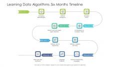 Learning Data Algorithms Six Months Timeline Infographics