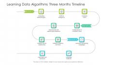 Learning Data Algorithms Three Months Timeline Mockup