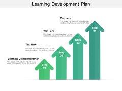Learning Development Plan Ppt PowerPoint Presentation Pictures Slide Portrait Cpb