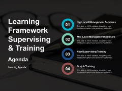Learning Framework Supervising And Training Ppt PowerPoint Presentation Background Image