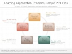 Learning Organization Principles Sample Ppt Files