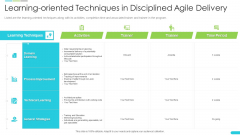 Learning Oriented Techniques In Disciplined Agile Delivery Brochure PDF