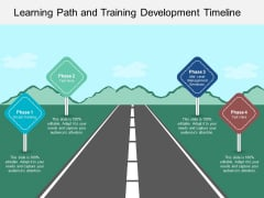 Learning Path And Training Development Timeline Ppt PowerPoint Presentation File Layout