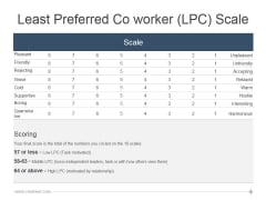 Least Preferred Co Worker Lpc Scale Ppt PowerPoint Presentation Slide Download