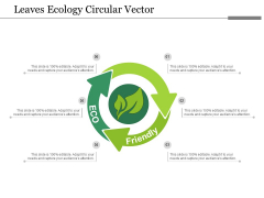 Leaves Ecology Circular Vector Ppt Powerpoint Presentation Infographics Guidelines