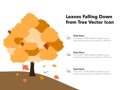 Leaves Falling Down From Tree Vector Icon Ppt PowerPoint Presentation File Objects PDF