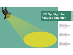 Led Spotlight For Focused Attention Ppt Powerpoint Presentation Professional Layouts