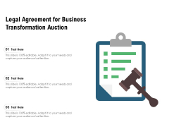 Legal Agreement For Business Transformation Auction Ppt PowerPoint Presentation Styles Aids PDF