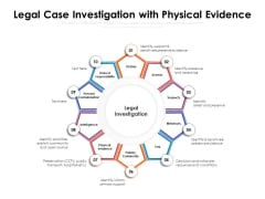 Legal Case Investigation With Physical Evidence Ppt PowerPoint Presentation File Samples PDF