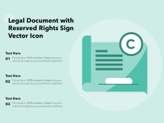 Legal Document With Reserved Rights Sign Vector Icon Ppt PowerPoint Presentation Example File PDF
