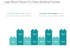 Lego Block Pieces For Team Building Process Ppt PowerPoint Presentation Guide