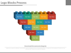 Lego Blocks Design For Data Representation Powerpoint Slides