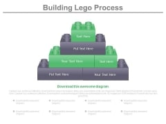 Lego Blocks For Business Process Building Powerpoint Slides