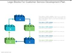 Lego Blocks For Customer Service Development Plan Powerpoint Topics