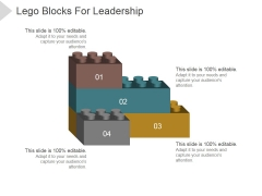Lego Blocks For Leadership Ppt PowerPoint Presentation Infographics