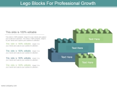 Lego Blocks For Professional Growth Powerpoint Slide Clipart