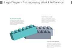 Lego Diagram For Improving Work Life Balance Powerpoint Slide Presentation Guidelines