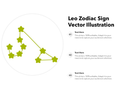 Leo Zodiac Sign Vector Illustration Ppt PowerPoint Presentation Inspiration Display PDF