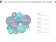 Let Interviewer Know About Languages You Speak Powerpoint Slide Design Templates