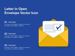 Letter In Open Envelope Vector Icon Ppt PowerPoint Presentation Gallery Example File PDF