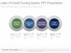 Letter Of Credit Funding System Ppt Presentation