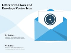 Letter With Clock And Envelope Vector Icon Ppt PowerPoint Presentation Gallery Sample PDF