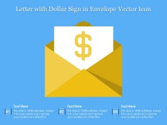 Letter With Dollar Sign In Envelope Vector Icon Ppt PowerPoint Presentation Gallery Layout PDF