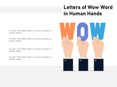Letters Of Wow Word In Human Hands Ppt PowerPoint Presentation File Clipart Images PDF