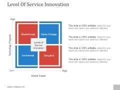 Level Of Service Innovation Ppt PowerPoint Presentation Microsoft