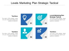 Levels Marketing Plan Strategic Tactical Ppt PowerPoint Presentation Pictures Brochure Cpb