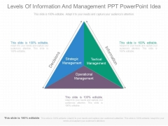 Levels Of Information And Management Ppt Powerpoint Idea