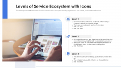 Levels Of Service Ecosystem With Icons Ppt PowerPoint Presentation File Designs PDF