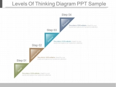 Levels Of Thinking Diagram Ppt Sample