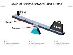 Lever For Balance Between Load And Effort Ppt PowerPoint Presentation File Ideas