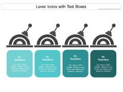 Lever Icons With Text Boxes Ppt PowerPoint Presentation Slides Picture