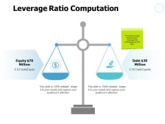 Leverage Ratio Computation Compare Ppt PowerPoint Presentation Slides Slideshow