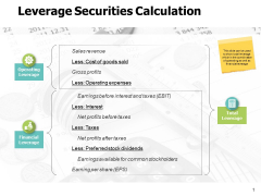 Leverage Securities Calculation Ppt PowerPoint Presentation Model
