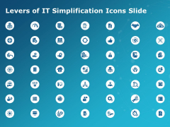 Levers Of It Simplification Icons Slide Ppt PowerPoint Presentation Ideas Topics