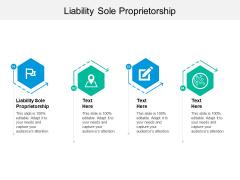 Liability Sole Proprietorship Ppt PowerPoint Presentation Layouts Information Cpb