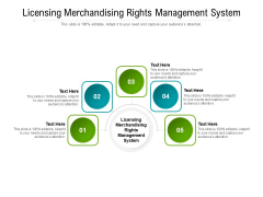 Licensing Merchandising Rights Management System Ppt PowerPoint Presentation Ideas Icons Cpb Pdf