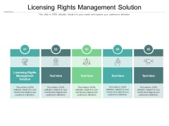Licensing Rights Management Solution Ppt PowerPoint Presentation Model Design Ideas Cpb Pdf
