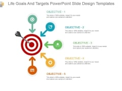 Life Goals And Targets Powerpoint Slide Design Templates