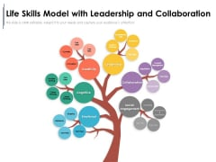 Life Skills Model With Leadership And Collaboration Ppt PowerPoint Presentation Infographic Template Inspiration PDF