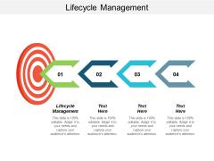 Lifecycle Management Ppt Powerpoint Presentation Portfolio Vector Cpb