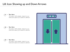 Lift Icon Showing Up And Down Arrows Ppt PowerPoint Presentation File Microsoft PDF