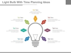 Light Bulb With Seven Ideas Tags Powerpoint Slides