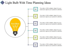 Light Bulb With Time Planning Ideas Ppt PowerPoint Presentation Layouts Mockup