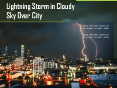 Lightning Storm In Cloudy Sky Over City Ppt PowerPoint Presentation Outline Graphics PDF